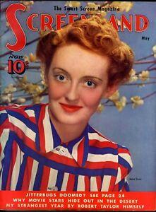 SCREENLAND • MAY 1939 • BETTE DAVIS • Tarzan Finds A Son photo inside