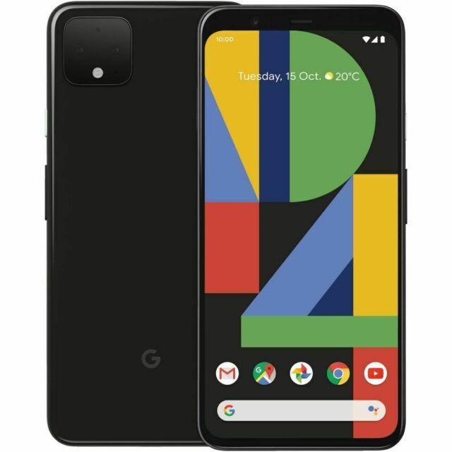 New Google Pixel 4 Factory Unlocked 64GB Just Black Verizon GSM AT&T T-Mobile