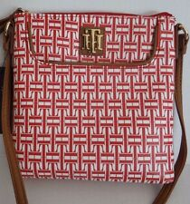 Tommy Hilfiger Women's Red Crossbody Bag Shoulder Bag Purse Long Strap SALE