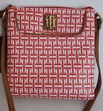 NWT Tommy Hilfiger Women's Red Cross body Bag Shoulder Bag Purse Long Strap SALE