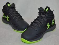 Under Armour Boys SIZE 12 K Jet Express Basketball Shoes BLUE BLACK New 1301866