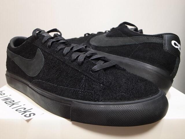 898bcb88973 2015 Nike Blazer Low Prem CDG SP Comme Des GARCONS Black 633699-009 Size 12  for sale online | eBay