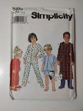 97bda78bcc Buy Simplicity Pattern 8493 Childrens Robe Shorts Pajamas Unisex Sz ...