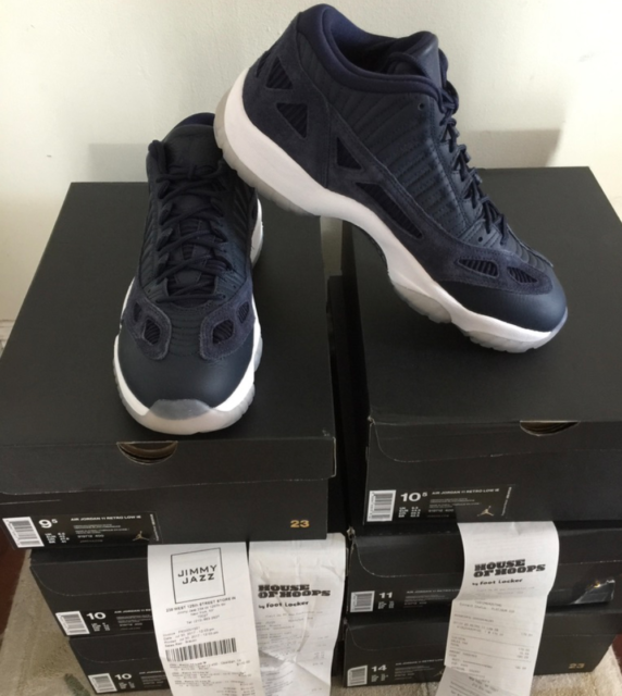 68b48f78ac9 Air Jordan Retro XI 11 Low IE Obsidian Midnight Navy 919712-400 AUTHENTIC