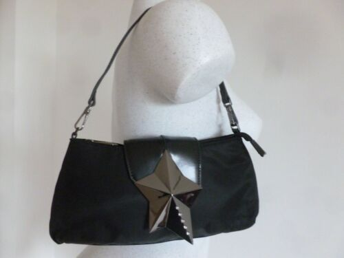 Sac Neuf Cuir Noir Pochette Muggler Thierry Toile Et Satinee Style FqqwCdpr