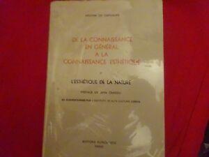 Vente Pas Cher Carvalho (amorim De)- De La Connaissance En Général à La Connaissance Esthétique Belle Et Charmante