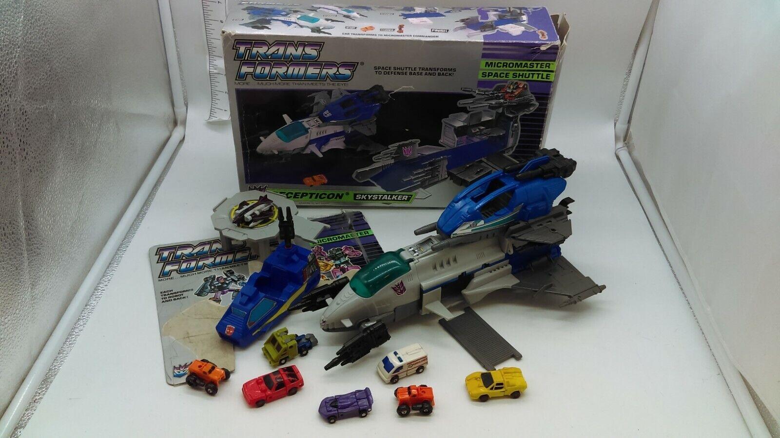 Vintage 1989 Hasbro G1 Transformers Micromaster Skystalker W Box & more lot KO 's