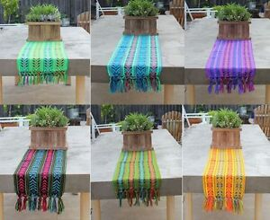 Superieur Image Is Loading Mexican Rebozo Serape Aztec Table Runner 80 034