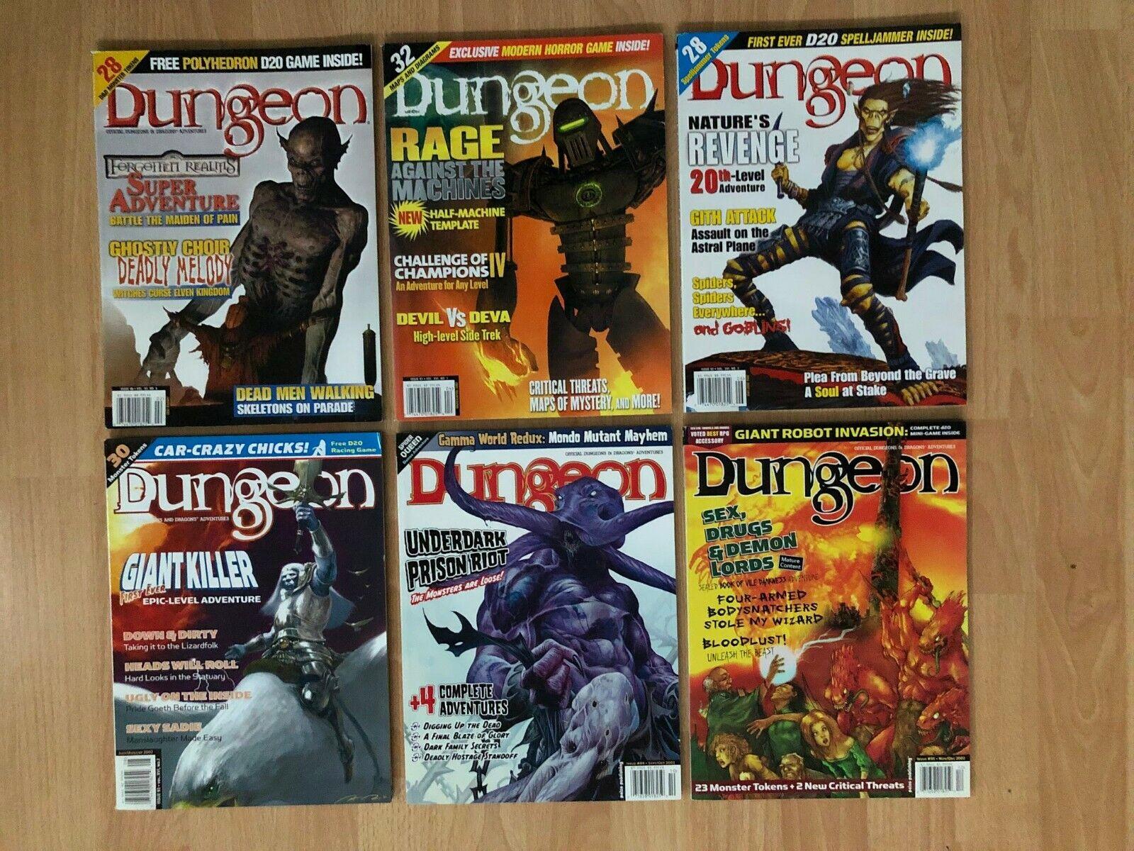 Dungeon Revistas Lote De 6   90 - 95  año 2002