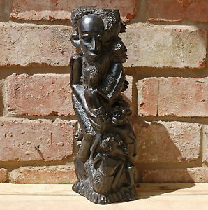 African ebony wood carvings