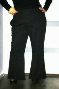 Details about Plus Size Dress Pants Wide Leg High Quality Size 24/26  Stretch Comfy Chic BLACK