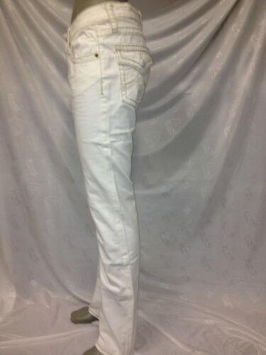 Damen Jeans Hose Gr 44//46 weiß mit dicken Nähten Ziernähten ** Makel **