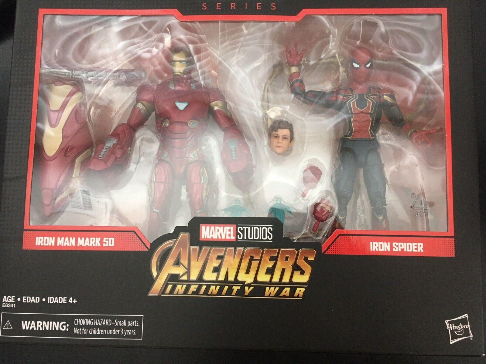 Los Vengadores Infinito De La Guerra de Leyendas Marvel Iron Man Mark 50 & Iron Spider-Paquete de 2