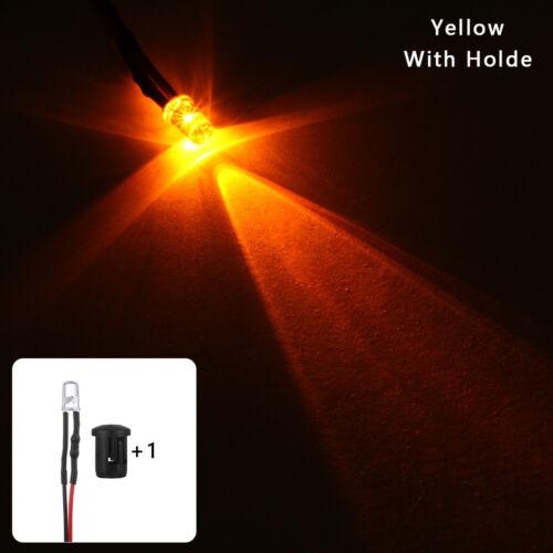 Holder 20cm Cable 12V multi-color Pre-Wired Emitting Diode 5mm LED Light