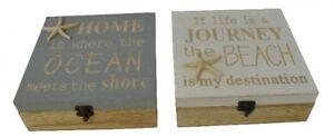 Aufbewahrungsbox-Schatulle-Maritim-034-Home-034-Holz-mit-Deckel-Haken-18x18x6-5cm