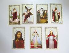 Set of 21 Prayer, Holy Cards of Jesus, 7 Different Cards with 3 of each