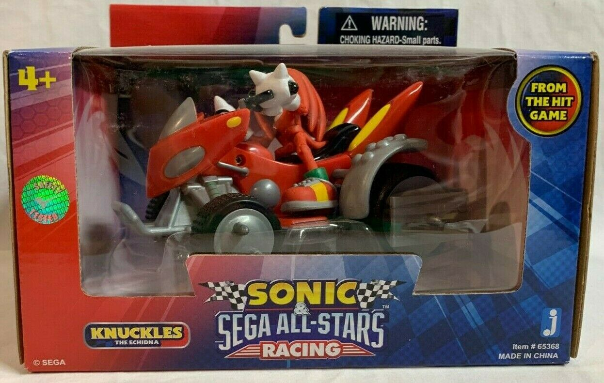 MISP JAZWARES SEGA tutti estrella Racing Sonic Hedgehog KNUCKLES Vehicle azione cifra