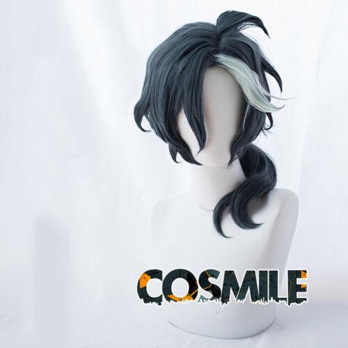 Yuliy Yuryi ユーリィ Hunter Cosplay Hair Wig Smoke blue-gray Ponytail Anime Sa