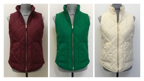 J Crew Mercantile Excursion Quilted Puffer Vest NWT XS-XXL