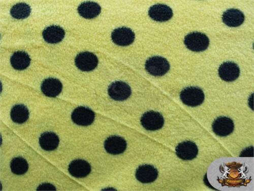 "Polar Fleece Printed Fabric POLKA DOTS 60/"" Wide Sold By the Yard"