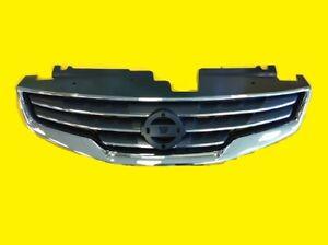 Grille-fits-Nissan-Altima-Sedan-2010-2012-Chrome-Black-OEM-62070-ZX00A