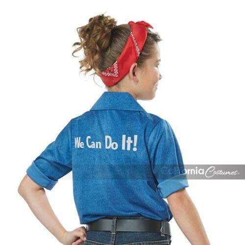 California Costume Rosie The Riveter WW2 Child Girls Halloween Costume 00594