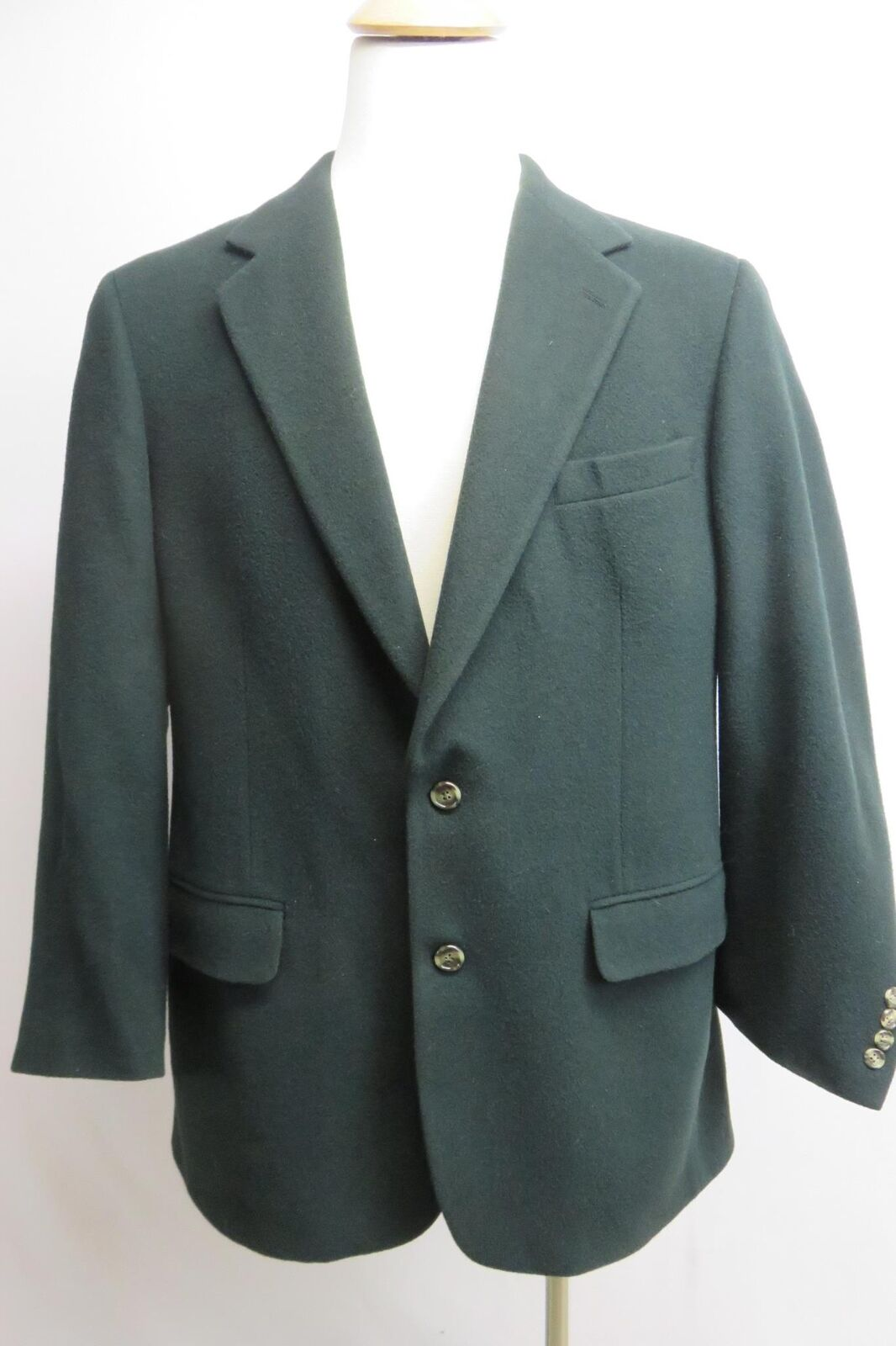 Brooks bredhers mens blazer 100% camelhair green two button size 42 formal