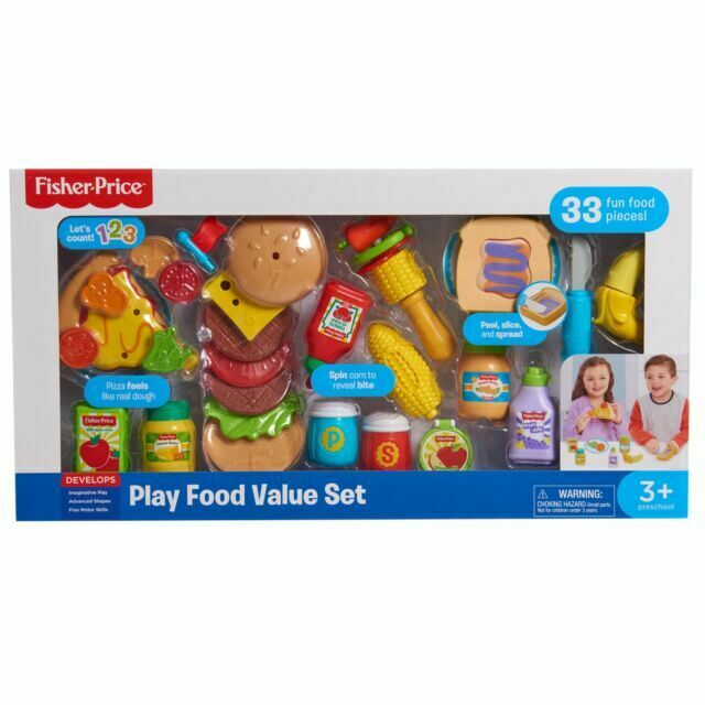 Fisher Price 33 Pieces Play Food Set For Sale Online Ebay