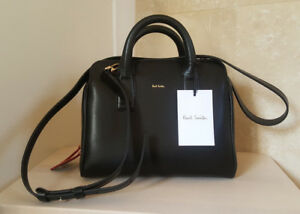 223484517a0d Image is loading BNWT-Authentic-Paul-Smith-Black-Leather-Mini-Bowling-