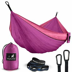 Double Portable Camping Hammock Straps Max 1000 Lbs Free Lightweight