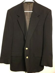 Mens Navy Blue Austin Reed Blazer Jacket Sport Coat Gold Buttons Wool L 41r Ebay