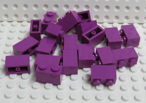 New Lego 1x2 Brick Light Purple Lot of 20