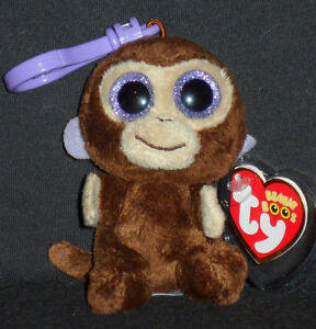 2f52d025aad TY BEANIE BOOS - COCONUT THE MONKEY KEY CLIP - MINT with MINT TAG ...