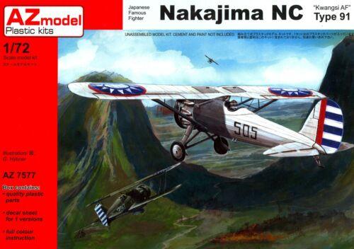 AZ Models 1//72 NAKAJIMA TYPE 91-I Kwangsi Fighter