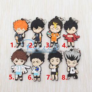Anime haikyuu rubber Keychain Key Ring Straps Rare cosplay