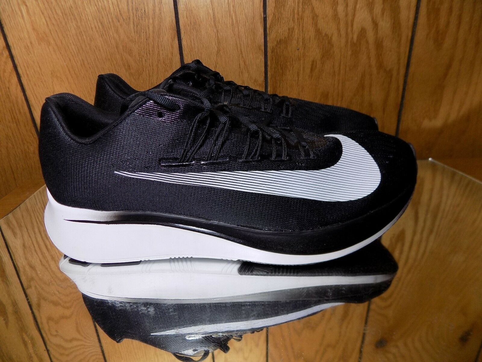 Nike Zoom Fly Running Shoes Men's Black White Anthracite 880848 001 NEW s 12
