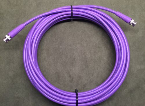 New 25/' Belden 1694A SDI-HDTV RG6 Digital Video BNC Male to Male Cable Purple