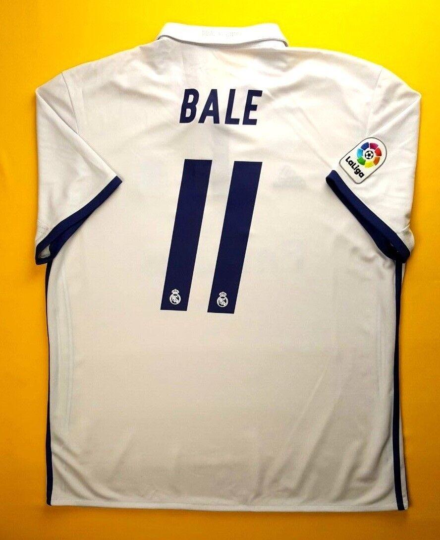 5+ 5 Bala jersey de Real Madrid XL 2016 2017 Hogar Camiseta Adidas Fútbol S94992 ig93