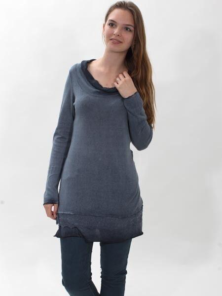 -30% Pullover von Simclan, Baumwolle, Gr. 44 Spitze, Longpulli, Tunika   Verschiedene Stile