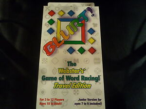 Family Fun For Parties Mattel Blurt Card Game Webster S Game Of Word Racing
