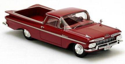 Envíos y devoluciones gratis. Maravilloso modelCoche Chevrolet El Camino Camino Camino Pick-up 1959-Rojo - 1 43  solo para ti