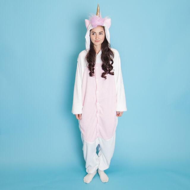 c84c5ca48d56 Smoko Unicorn Furry Fantasy Fun Zipper Pajama Cosplay Costume Halloween  Jumper