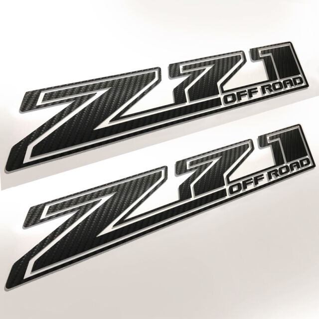 Chevy Z71 Off Road 2017 2018 Carbon Fiber Decal Chevrolet Silverado