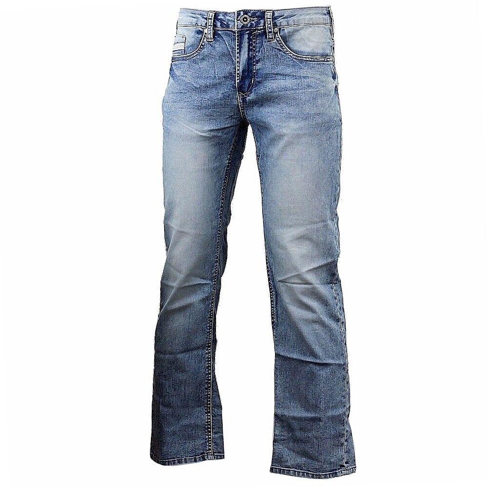 Buffalo par David Bitton Six-X Droit Slim Extensible Marbre Cinq-Poches Jean
