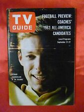 September 21 Carolina-Tenn TV GUIDE 1963 DR. KILDARE Chamberlain Rick Nelson