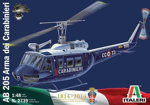 Elicottero Ab 205 Arma Dei Carabinieri Kit 1:48 Italeri IT2739