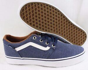8e3d1cc8f8 Details about NEW Mens VANS Chapman Stripe Denim Blue White Casual Sneakers  Shoes