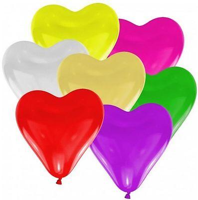 50 Herzen Herzballons bunt - Luft und Ballongas geeignet - Herzen Hochzeit