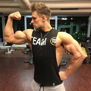 Men-039-s-gyms-Fitness-Bodybuilding-Tank-Tops-Singlet-Vest-sleeveless-shirts-muscle