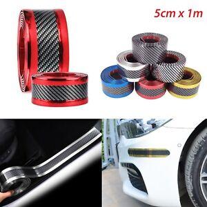 5CMx1M-Kohlenstofffaser-Auto-Zierleisten-Schutz-Stossstangenleiste-Universal